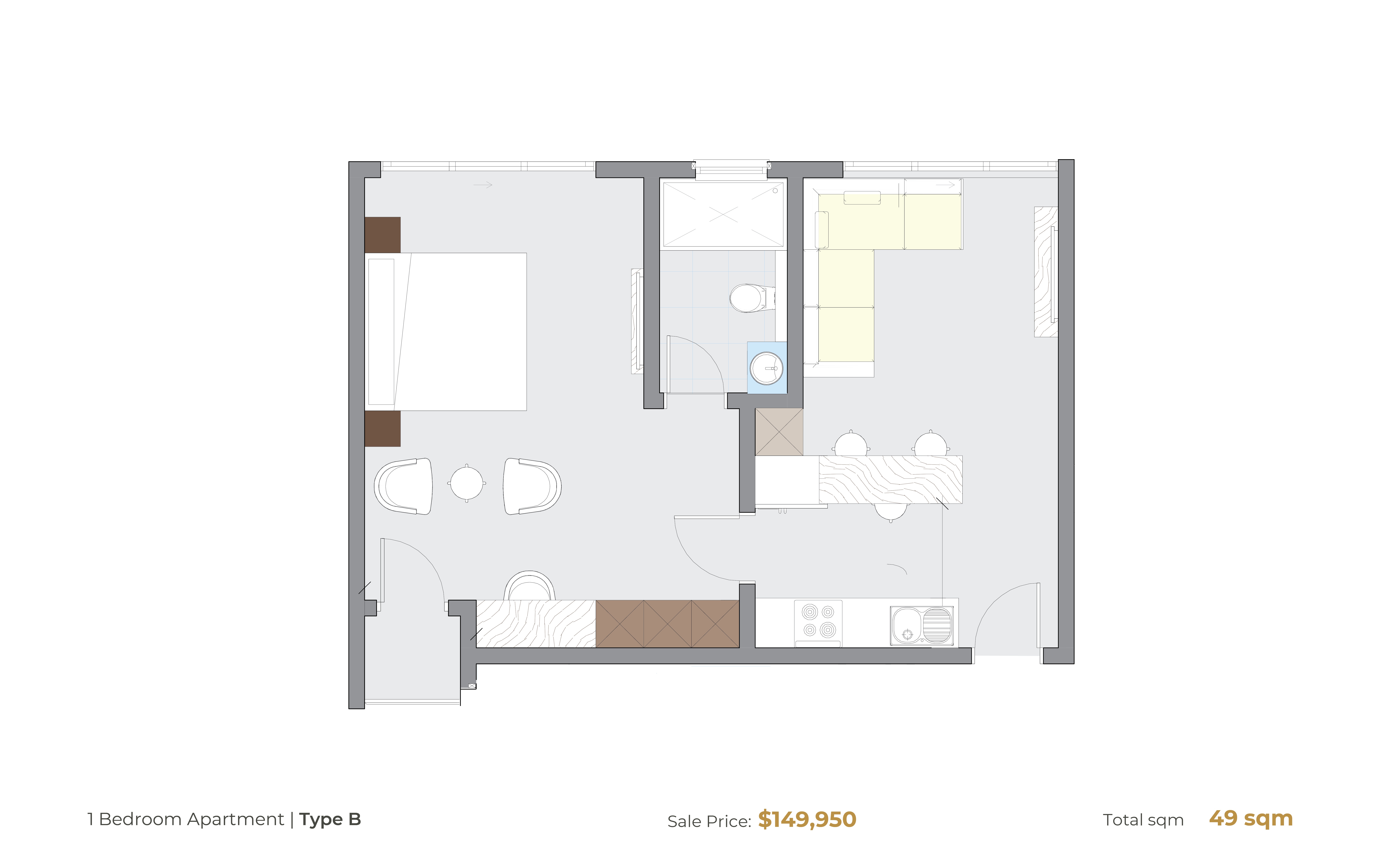 1 Bedroom Type B [Hammond Court]-02